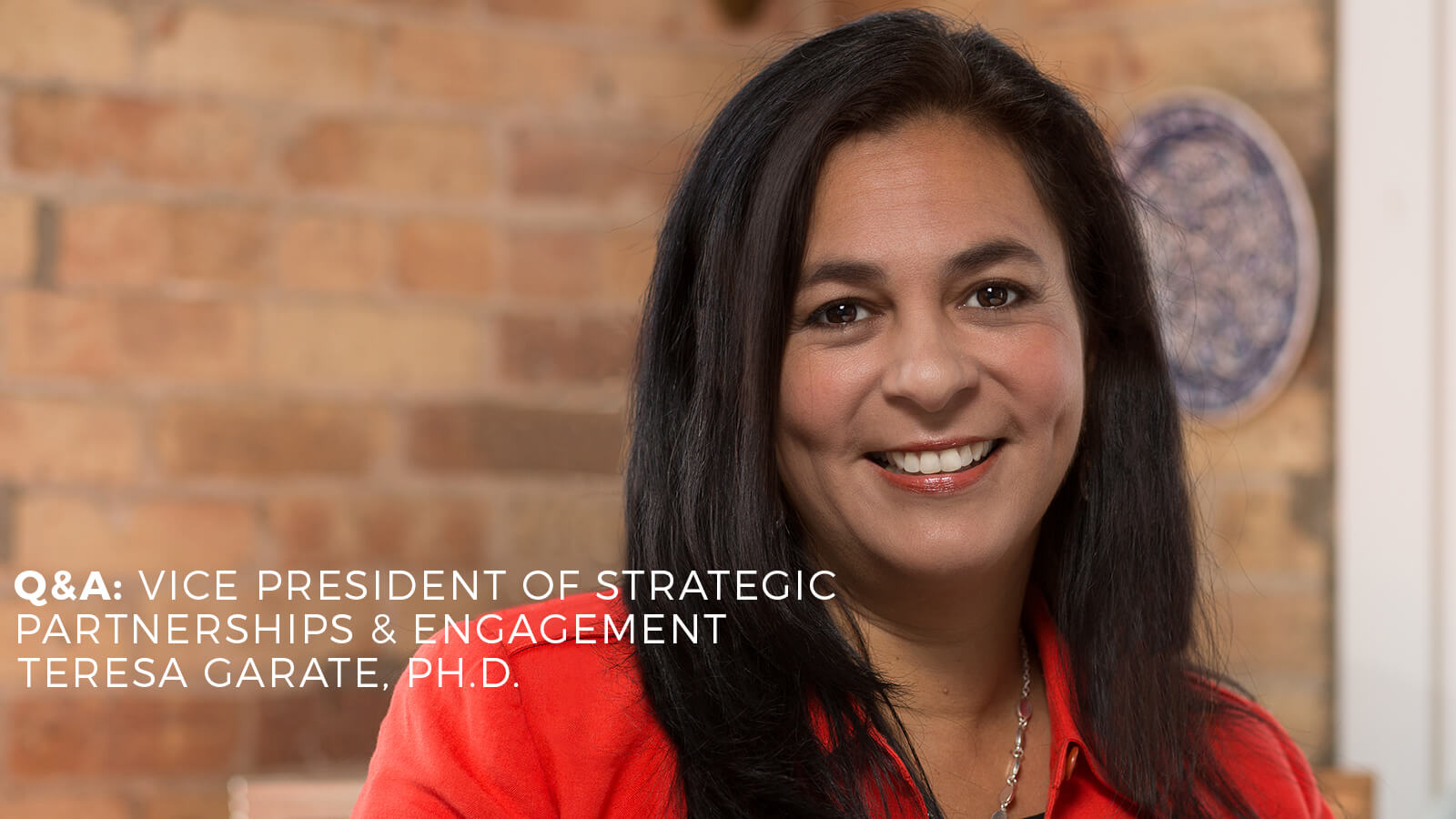 Interview with VP of Strategic Partnerships and Engagement Teresa Garate, PhD