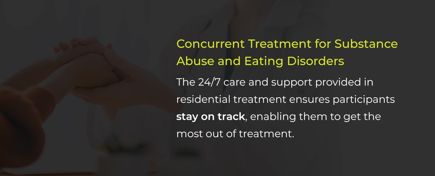 concurrent treatment for substance abuse and eating disorders