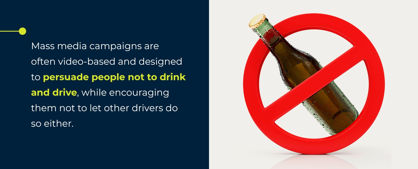 mass media to speak out against drunk driving