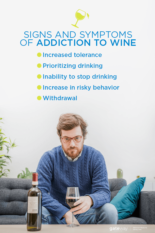 Signs and Symptoms of Addiction to Wine