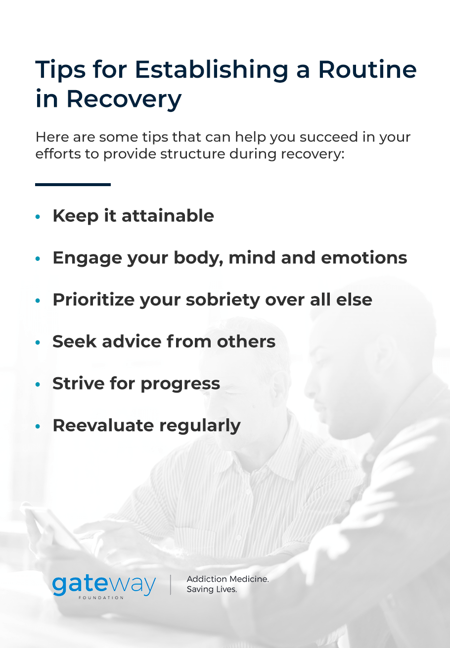 Tips for Establishing a Routine in Recovery